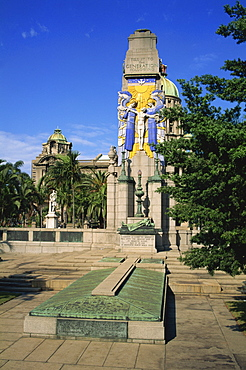 War Memorial with City Hall beyond, Durban, Natal, South Africa, Africa - 365-2879