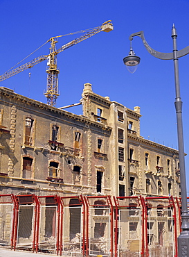 Rebuilding a building from the Ottoman era, central district, Beirut, Lebanon