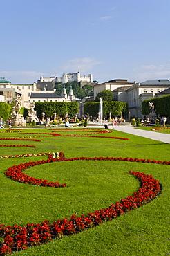 Mirabell Gardens and Schloss Hohensalzburg, Saltzburg, Austria