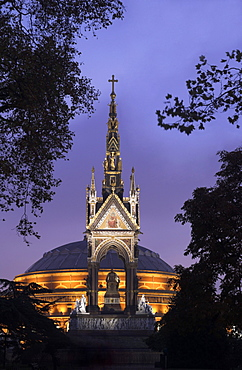 Albert Memorial and the Royal Albert Hall, London, England, United Kingdom, Europe