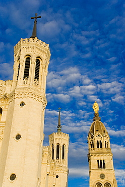 Basilica Fourviere, Lyons, Rhone, France, Europe