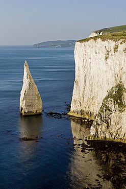 Studland Head and Bay Pinnacle, Jurassic Coast, UNESCO World Heritage Site, Dorset, England, United Kingdom, Europe