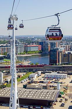 Cable car Greenwich Emirates, London, England, United Kingdom, Europe