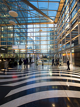 Heron Wharf interior, Canary Wharf, Docklands, London, England, United Kingdom, Europe