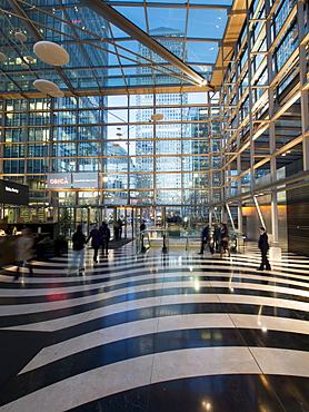 Heron Wharf interior, Canary Wharf, Docklands, London, England, United Kingdom, Europe