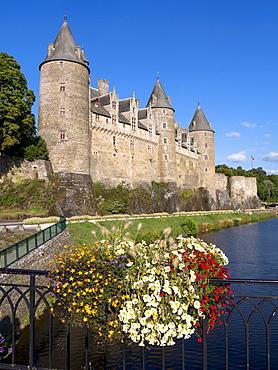 Josselin Castle, Morbihan, Brittany, France, Europe