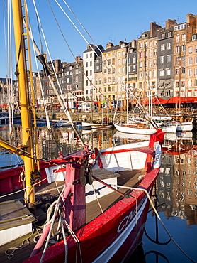 Honfleur port, Calvados, Normandy, France, Europe