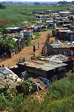 Squatter camp near Soweto, Johannesburg, South Africa, Africa