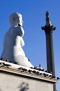 Statue of Alison Lapper, Pregnant, Trafalgar Square, London, England, United Kingdom, Europe