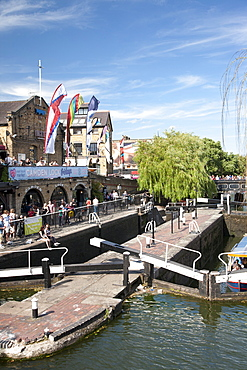 View of Camden Lock, Camden, London, England, United Kingdom, Europe
