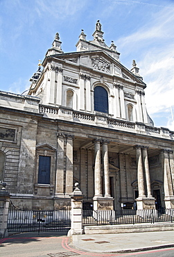 Facade of the Brompton Oratory, South Kensington, London, England, United Kingdom, Europe