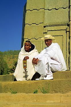 Bride and groom, Stelae Field, Axum, Ethiopia, Africa