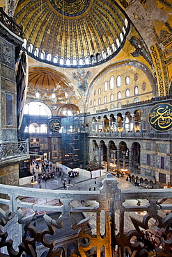 Byzantine architecture of Aya Sofya (Hagia Sophia), constructed as a church in the 6th century by Emperor Justinian, a mosque for years, now a museum, UNESCO World Heritage Site, Istanbul, Turkey, Europe