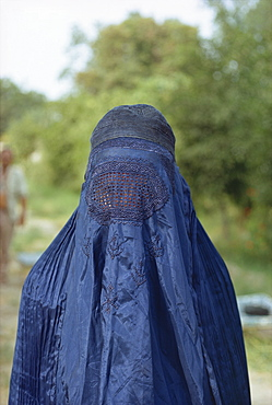 Portrait of a woman in burka in Afghanistan, Asia