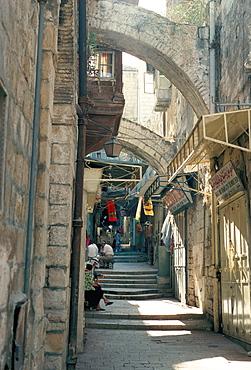 Via Dolorosa, Old City, UNESCO World Heritage Site, Jerusalem, Israel, Middle East