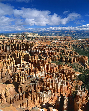 Pinnacles and rock formations caused by erosion and known as The Silent City, seen from Inspiration Point, in the Bryce Canyon National Park, Utah, United States of America, North America