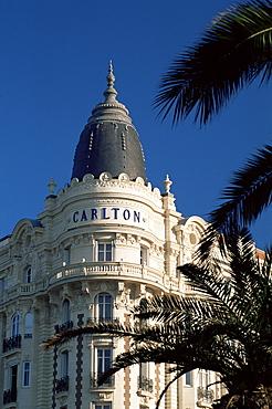 The famous Carlton Hotel, Cannes, Alpes-Maritimes, Cote d'Azur, Provence, France, Europe