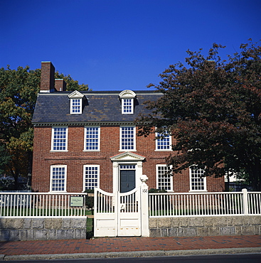 Derby House, 1761, the first brick structure built in Salem, owned by India merchant Elias Hasket Derby, Salem, Massachusetts, New England, United States of America, North America