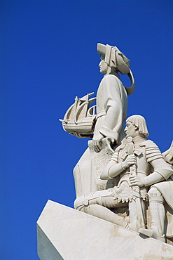 Detail of the Monument to the Discoveries (Padrao dos Descobrimentos), at Belem, in Lisbon, Portugal, Europe