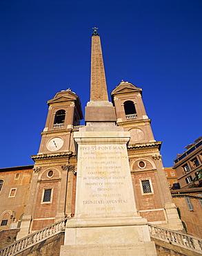 Trinita dei Monti at Piazza di Spagna in Rome, Lazio, Italy, Europe
