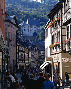 Old town with castle, Miltenberg (Franken), Bavaria, Germany, Europe