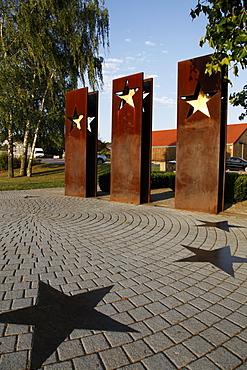 Monument for the Schengen Convention, Schengen, Mosel-Valley, Luxembourg, Europe