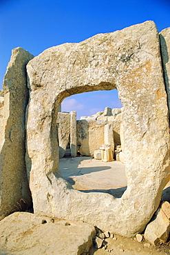 Hgar Quim Temple, near Zurrieq, Malta, Mediterranean Sea, Europe