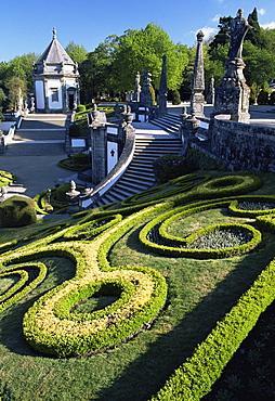 Bom Jesus basilica gardens, City of Braga, Minho region, Portugal, Europe