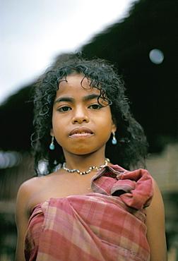 Portrait of a Hua Ulu girl, Seram, Moluccas, Indonesia, Southeast Asia, Asia