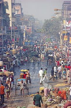 Street life, Calcutta, India, Asia