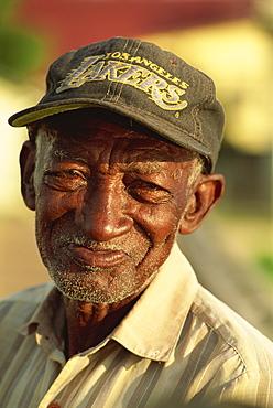 Old Creole man, Dangriga, Belize, Central America