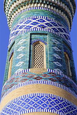 Islam Khodja minaret, Khiva, Uzbekistan, Central Asia
