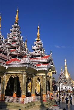 Kakusandha Adoration Hall, Shwedagon Pagoda, Yangon (Rangoon), Myanmar (Burma), Asia