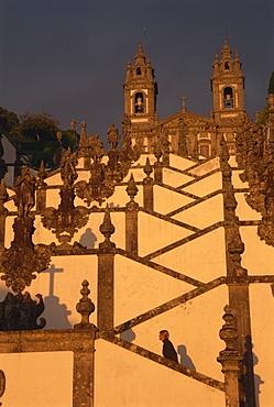 Bom Jesus do Monte Baroque staircase, Braga, Minho, Portugal, Europe