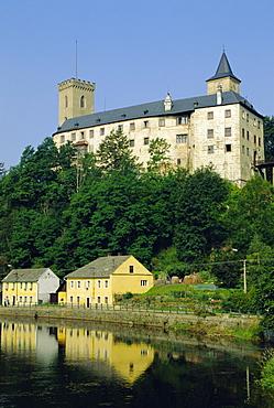 Rozmberk nad Vltavu, 13th century, headquarters of Rozmberk family, Bohemia, Czech Republic, Europe