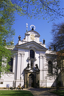 Strahov church facade, Hradcany, Prague, Czech Republic, Europe