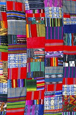 Patchwork quilt, San Antonio Aguas Calientes, Guatemala, Central America