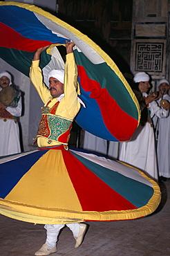 Whirling dervish, Al-Shuri Mausoleum, Cairo, Egypt, North Africa, Africa