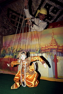 Master puppeteer at work, Mandalay, Myanmar (Burma), Asia