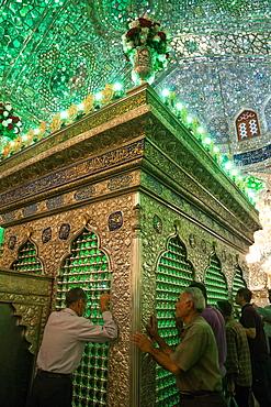 One of the holiest Shiite sites, Aramgah-e Shah-e Cheragh (Mausoleum of the King of Light), Shiraz, Iran, Middle East