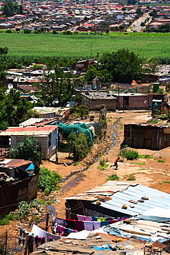 Only ten percent is now shanty town, the rest lower middle class brick housing, Soweto, Johannesburg, South Africa, Africa