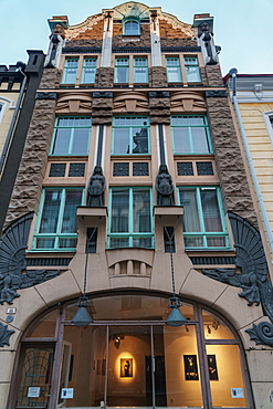 Art nouveau building now housing art gallery, Tallinn, Estonia, Europe