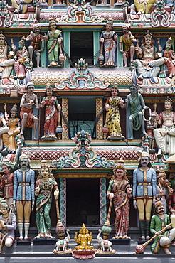 Sri Mariamman Hindu Temple in Chinatown, Singapore, South East Asia