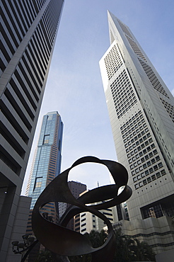 Raffles Place, the Financial District, Singapore, Southeast Asia, Asia