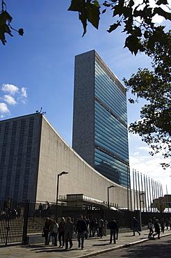 United Nations Headquarters Building, Manhattan, New York City, New York, United States of America, North America