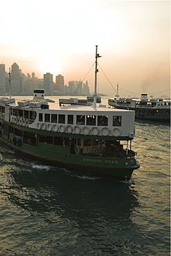 Star Ferries, Victoria Harbour, Hong Kong, China, Asia