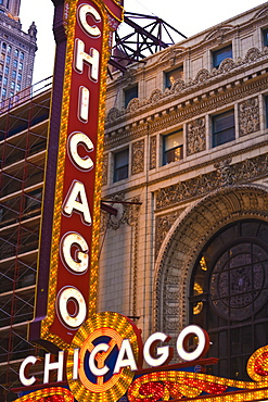 The Chicago Theatre, Theatre District, Chicago, Illinois, United States of America, North America