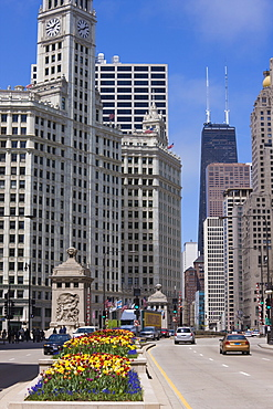 The Wrigley Building on North Michigan Avenue, Chicago, Illinois, United States of America, North America