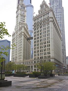 The Wrigley Building, North Michigan Avenue, The Magnificent Mile, Chicago, Illinois, United States of America, North America