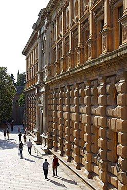 Palace of Charles V, Alhambra Palace, UNESCO World Heritage Site, Granada, Andalucia, Spain, Europe